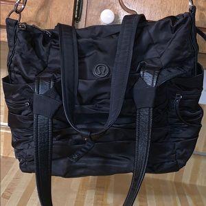 Lululemon Black bag/gym bag/book bag w/pockets